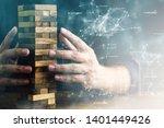 business man try to start built ... | Shutterstock . vector #1401449426