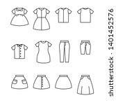 clothes line icon vector set.... | Shutterstock .eps vector #1401452576