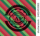 cape christmas badge. vector...   Shutterstock .eps vector #1401453383