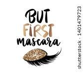 but first mascara   vector...   Shutterstock .eps vector #1401479723