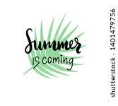 hand drawn inscription   summer ...   Shutterstock .eps vector #1401479756