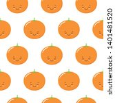 seamless pattern with cute... | Shutterstock .eps vector #1401481520