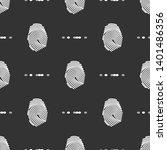 pattern of fingerprint scanning ... | Shutterstock .eps vector #1401486356