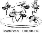 flea dance this scene shows six ...   Shutterstock .eps vector #1401486743