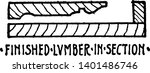finished lumber in section... | Shutterstock .eps vector #1401486746