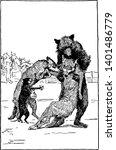reynard the fox  helping...   Shutterstock .eps vector #1401486779