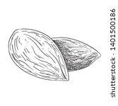 almonds black and white...   Shutterstock .eps vector #1401500186