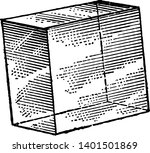 a rhombohedron is a three...   Shutterstock .eps vector #1401501869