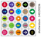 set of 25 different highly... | Shutterstock .eps vector #140150236