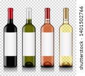 wine bottles set with blank...   Shutterstock .eps vector #1401502766