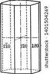 ditetragonal prism with eight...   Shutterstock .eps vector #1401504269