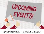 text sign showing upcoming... | Shutterstock . vector #1401505100