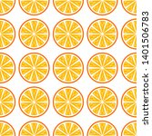 orange fruit vector seamless... | Shutterstock .eps vector #1401506783
