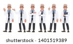 set of character male doctor in ... | Shutterstock .eps vector #1401519389