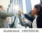 team of several successful... | Shutterstock . vector #1401520136