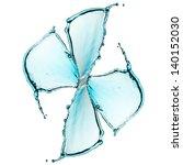 flower made of water splash | Shutterstock . vector #140152030