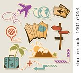 summer holiday doodle collection   Shutterstock .eps vector #140152054