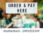 a business text  order and pay...   Shutterstock . vector #1401522149
