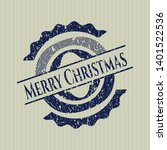 blue merry christmas distress...   Shutterstock .eps vector #1401522536