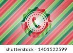 old phone icon inside christmas ...   Shutterstock .eps vector #1401522599