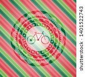 bike icon inside christmas...   Shutterstock .eps vector #1401522743