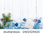christmas decoration frame... | Shutterstock . vector #1401524423