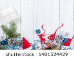 christmas decoration frame... | Shutterstock . vector #1401524429