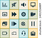 multimedia icons set with wifi  ...   Shutterstock . vector #1401526889