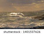 Dark Moody Seascape  Sunlight...