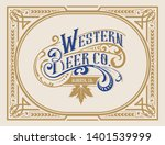 vintage logo template with...   Shutterstock .eps vector #1401539999