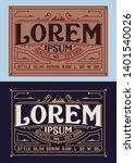 vintage set of jeans labels   Shutterstock .eps vector #1401540026