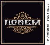 vintage cigar logo template.... | Shutterstock .eps vector #1401540173