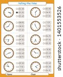 telling the time  choose the... | Shutterstock .eps vector #1401553526