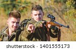 hunters gamekeepers looking for ... | Shutterstock . vector #1401555173