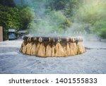 hot spring in ranong thailand... | Shutterstock . vector #1401555833