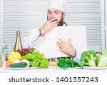 book recipes copy space. man...   Shutterstock . vector #1401557243