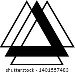 linked triangles. abstract... | Shutterstock .eps vector #1401557483