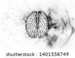illustration of a human brain ... | Shutterstock . vector #1401558749
