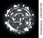 twice on grey camouflage pattern   Shutterstock .eps vector #1401566720