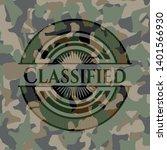 classified written on a camo...   Shutterstock .eps vector #1401566930