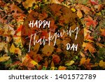 happy thanksgiving greeting... | Shutterstock . vector #1401572789