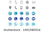 5 different contact information ... | Shutterstock .eps vector #1401580316