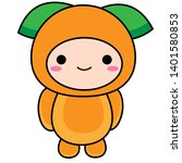 cute baby fruit vector clipart... | Shutterstock .eps vector #1401580853
