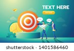 business teamwork concept with... | Shutterstock .eps vector #1401586460