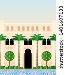 traditional mediterranean... | Shutterstock . vector #1401607133