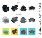 vector illustration of wildlife ... | Shutterstock .eps vector #1401616463
