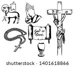 a set of christian religious... | Shutterstock .eps vector #1401618866