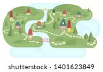 map with fairyland.... | Shutterstock . vector #1401623849