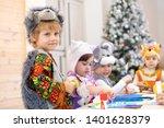children handiwork in kids club.... | Shutterstock . vector #1401628379