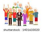 old people group. crowd older...   Shutterstock .eps vector #1401633020